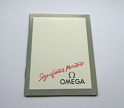 Omega Watch Manual Instructions Booklet Cal. 1458