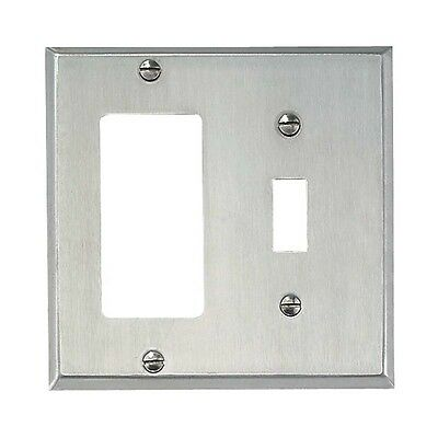 Switchplate Brushed Stainless Steel GFI Toggle | Renovators Supply