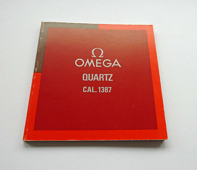 Omega Watch Manual Instructions Book Cal. 1387
