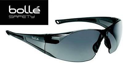 Bolle Rush 40071 Safety Glasses Smoke Gray Lens Black Frame Anti-Fog Lens