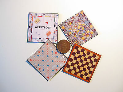 4 Dolls House Miniature Game Boards