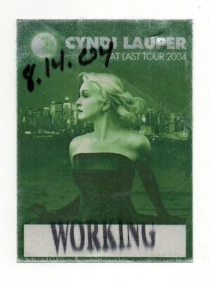Cyndi Lauper 2004 At Last Tour Working Crew Satin Backstage Pass