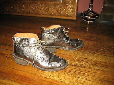 Metallic Boots Vintage 90's All Space Size 5.5