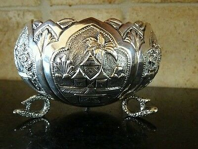 Antique Solid Silver  Chinese Middle Eastern ?? Bowl Hand Made