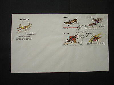 Ziambia : 1989 Grasshoppers : Pictorial FDC