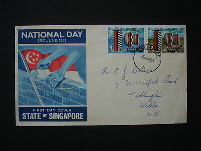 Singapore : 1963 National Day : Pictorial FDC
