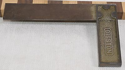 "Vintage 6"" Henry Disston & Sons Steel Try Square (INV A815)"