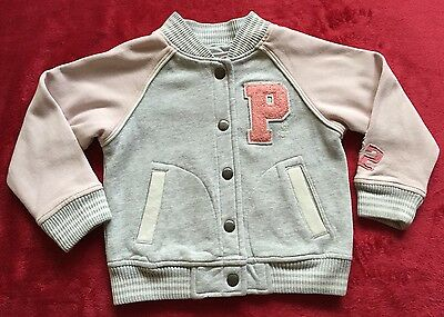 Girls Next Peppa Pig Baseball Jacket Age 2-3yrs