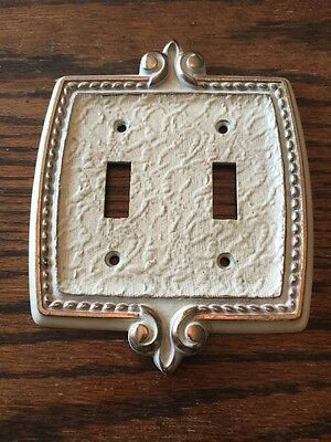 Vintage Mid Century MCM Metal Switch Plate Cover