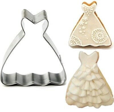 wedding dress Princess Gown cookie cutter pastry fondant party UK SELLER