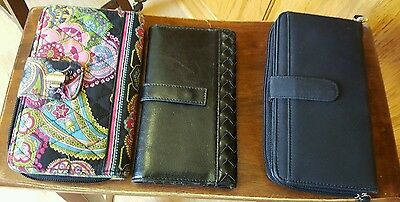 Lot of 3 wallets Vera Bradley and 2 unbranded