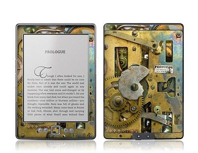 GelaSkins Protective Vinyl Cover Skin for Kindle 4 Steampunk
