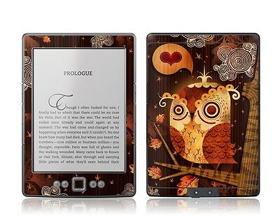 GelaSkins Protective Vinyl Cover Skin for Kindle 4 Enamoured Owl