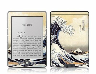 GelaSkins Protective Vinyl Cover Skin for Kindle 4 Great Wave