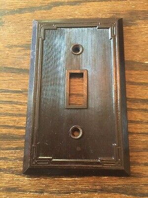 Vintage Lines Lined Brown Switch Plate Cover Deco No. 14