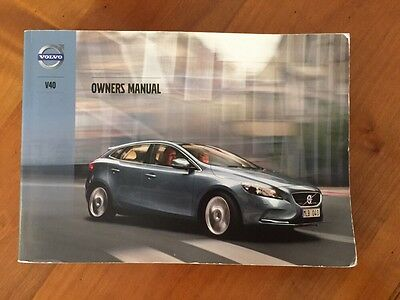 Volvo V40 Owners Manual 2012-2014