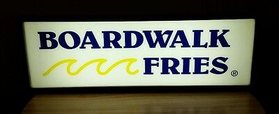 "Vintage Large Boardwalk Fries Lighted Light Up Advertising Sign ~ 37""X 13"""