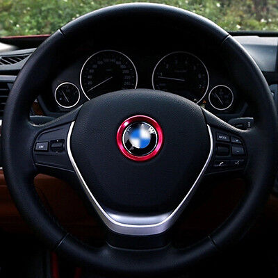 Red Car Steering Wheel Center Decoration Ring Cover For BMW 1 3 4 5 7 Series