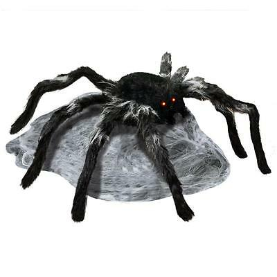new animated halloween moving audible jumping spider decoration yard decor prop - Halloween Spider Decoration