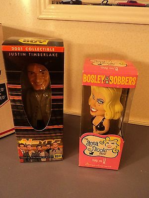 Justin Timberlake and Anna Nicole Bobbleheads  Mint in the box.