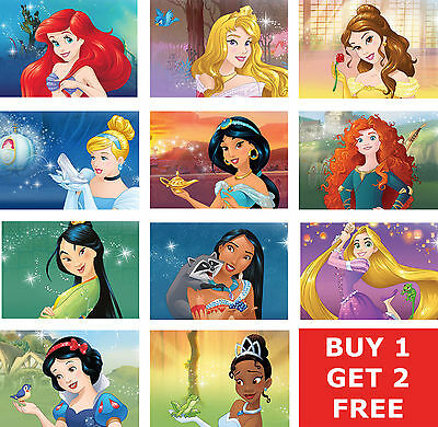 Disney Princess Prints ALL 11 Official - Free P+P - Buy All Or BUY 1 GET 2 FREE