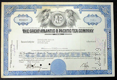 The Great Atlantic & Pacific Tea Company 1966 Wertpapier Aktie (I-8768+