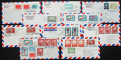 10 US Airmail Cover Salem United Nations Stamps Peace Justice Lupo Brief (I-8683