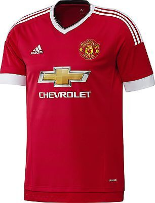 Manchester United Football Shirt Kit Top Jersey Home Boys 2015 2016 Age 11 / 12