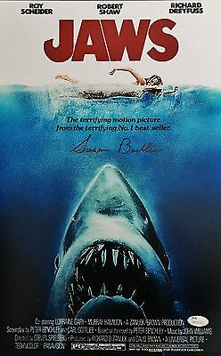 SUSAN BACKLINIE SIGNED 11x17 JAWS MOVIE POSTER - FIRST VICTIM  - JSA COA