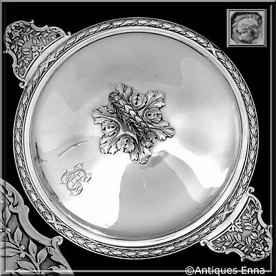 Lapeyre French Sterling Silver Ecuelle, Covered Serving Dish/Tureen Neoclassical