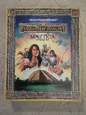 AD&D 2nd Forgotten Realms 1066 Maztica Campaign Set 1991 Dungeons Dragons