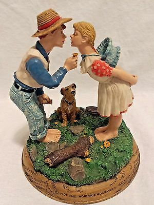 Norman Rockwell Figurine Buttercup Family Trust Authorized Edition EUC