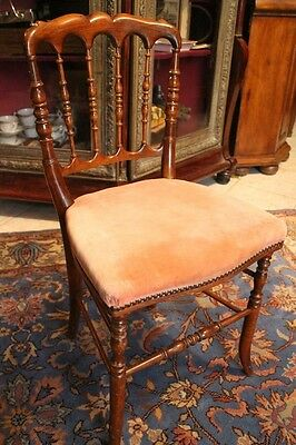 Chair of room beech, walnut solid vintage Napoleon III