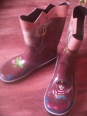 Baby Kids Children Kidorable Pirate Wellington Boots Size 12