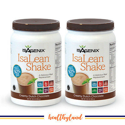 FREE POST Isagenix High Protein IsaLean Shake TWO Chocolate Flavoured Canisters