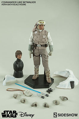 Sideshow Commander Luke Skywalker Hoth Exclusive Ep. V ESB Sixth 1:6 Figure New
