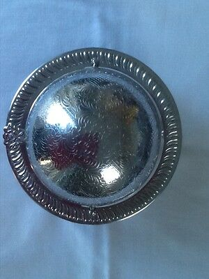Retro Silver Plated Caviar/butter-Rotating Globe Covered Dish