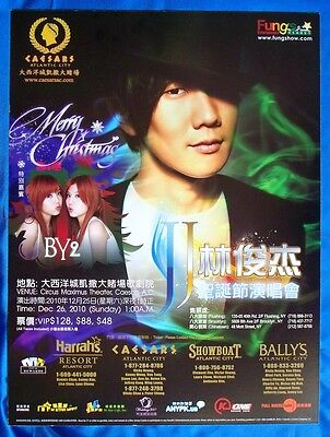 JJ Lin & BY2 December 26, 2010 Caesars Atlantic City Sign Poster
