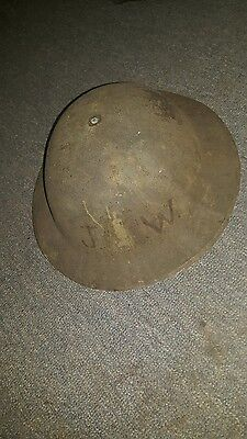 ww1 doughboy helmet marked jw and number 1?