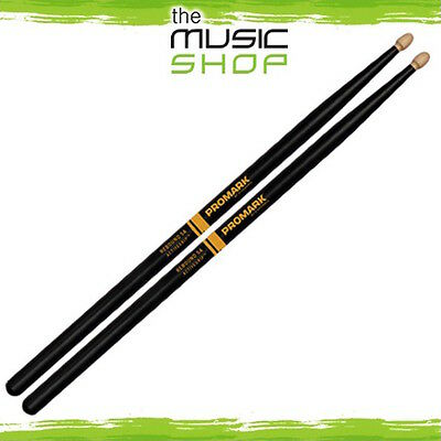 Set Promark Rebound Balance 5A Active Grip Hickory Drumsticks with Wood Tips