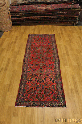 S Antique Hallway Lilian Hamedan Runner Persian Oriental Area Rug Carpet 3'7X10