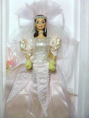 Blushing Orchid Bride Porcelain Barbie, 1996. New In Box With Mattel Shipper Box