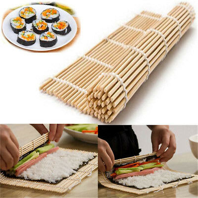 Sushi Maker Kit Rice Roll bamboo Mold Kitchen DIY Mould Roller Mat Rice Paddle