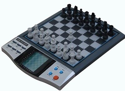 NEW TALKING VOICE ELECTRONIC CHESS SET BOARD MAGNETIC COMPUTER GAME 8 in 1 Wow!