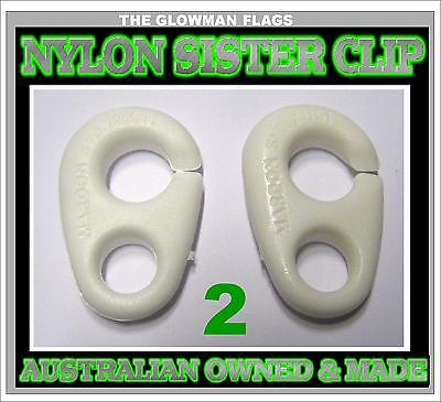 sister clip sister clips for boat boating marine Yacht nautical 2 total