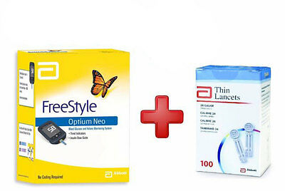 Freestyle Optium Neo Glucose Ketone + 100 Lancets Cash Back Choose Your Special