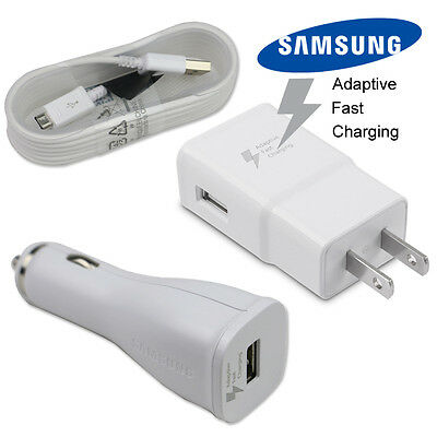 Adaptive Fast Wall charger USB Cable For Samsung galaxy S7 S6 edge+ Note 5/4