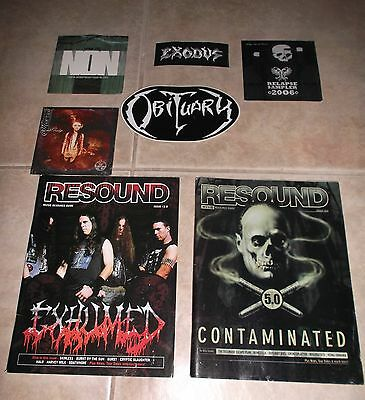 Metal lot - Exodus Obituary Mortiis Relapse Records Otep Ozzy Ozzfest Wolfmother