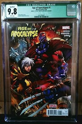 AGE OF APOCALYPSE #1 1ST PRINT CGC 9.8 WHITE PAGES Signed auto by Fabian Nicieza