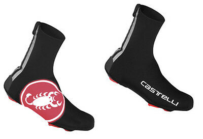 Castelli Diluvio Shoecover 16 (AW15)  Black/Red Scorpion Small/Med